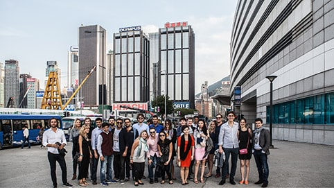 London Business School students on the Global Business Experience in Hong Kong